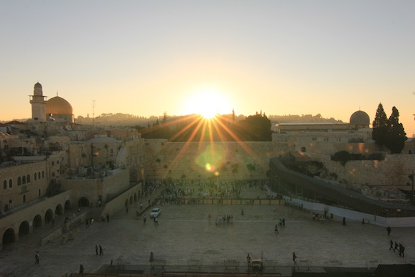 Sunrise at the Western Wall, Israel