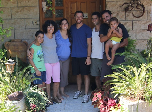 With a friend's family in Northern Israel