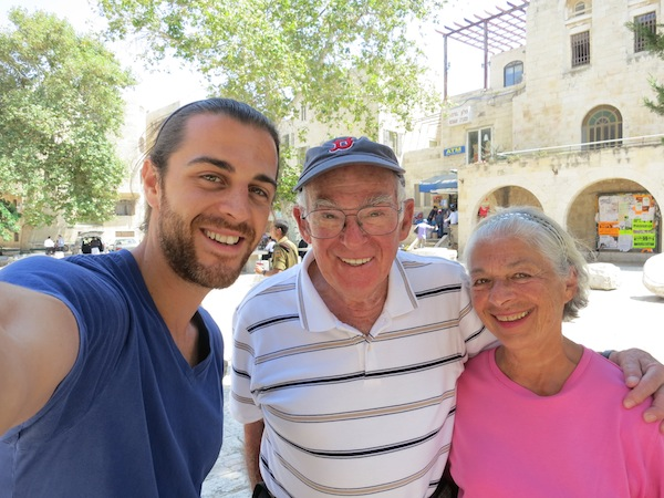 With nice people in Jerusalem, Israel