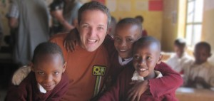 Scott Brills at a school in Karatu, Tanzania.